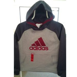 ADIDAS KIDS FUSION HOODED PULLOVER (M 10/12)